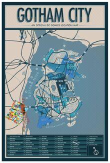 Gotham Map With Burnside