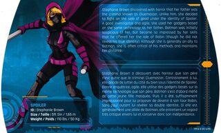 Batman Gotham City Chronicles SB Back Card