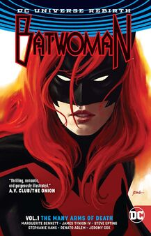 Batwoman many arms of death tpb cover