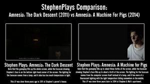 StephenPlays Comparison - Amnesia