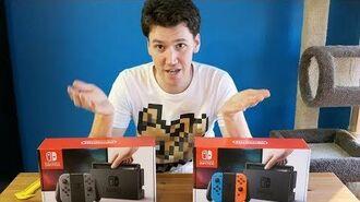 Unboxing 2 Nintendo Switches • 2.5.18