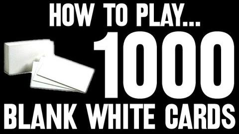 How to Play... 1,000 Blank White Cards