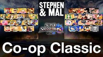 Stephen & Mal SSB4 Co-op Classic - Character Select