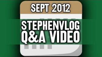 StephenVlog Q&A - September 2012 (w My Parents!)