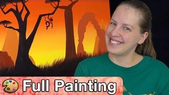 "Donkey Kong Country Tropical Freeze - ""Bright Savannah"" Painting (Full Version)"