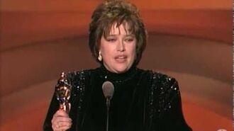 Kathy Bates Wins Best Actress 1991 Oscars
