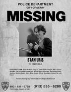 Stan Uris Missing Poster