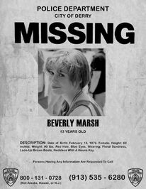 Beverly Marsh Missing Poster