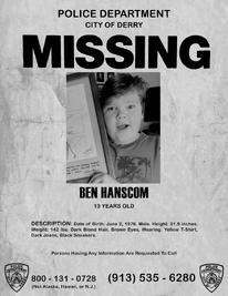 Ben Hanscom Missing Poster
