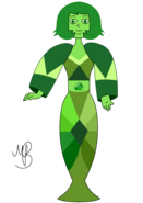 Aurora green diamond