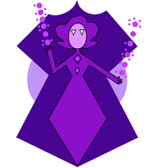 Violetdiamondmural