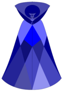 Navy blue diamond