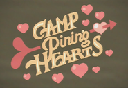Camp pining hearts logo