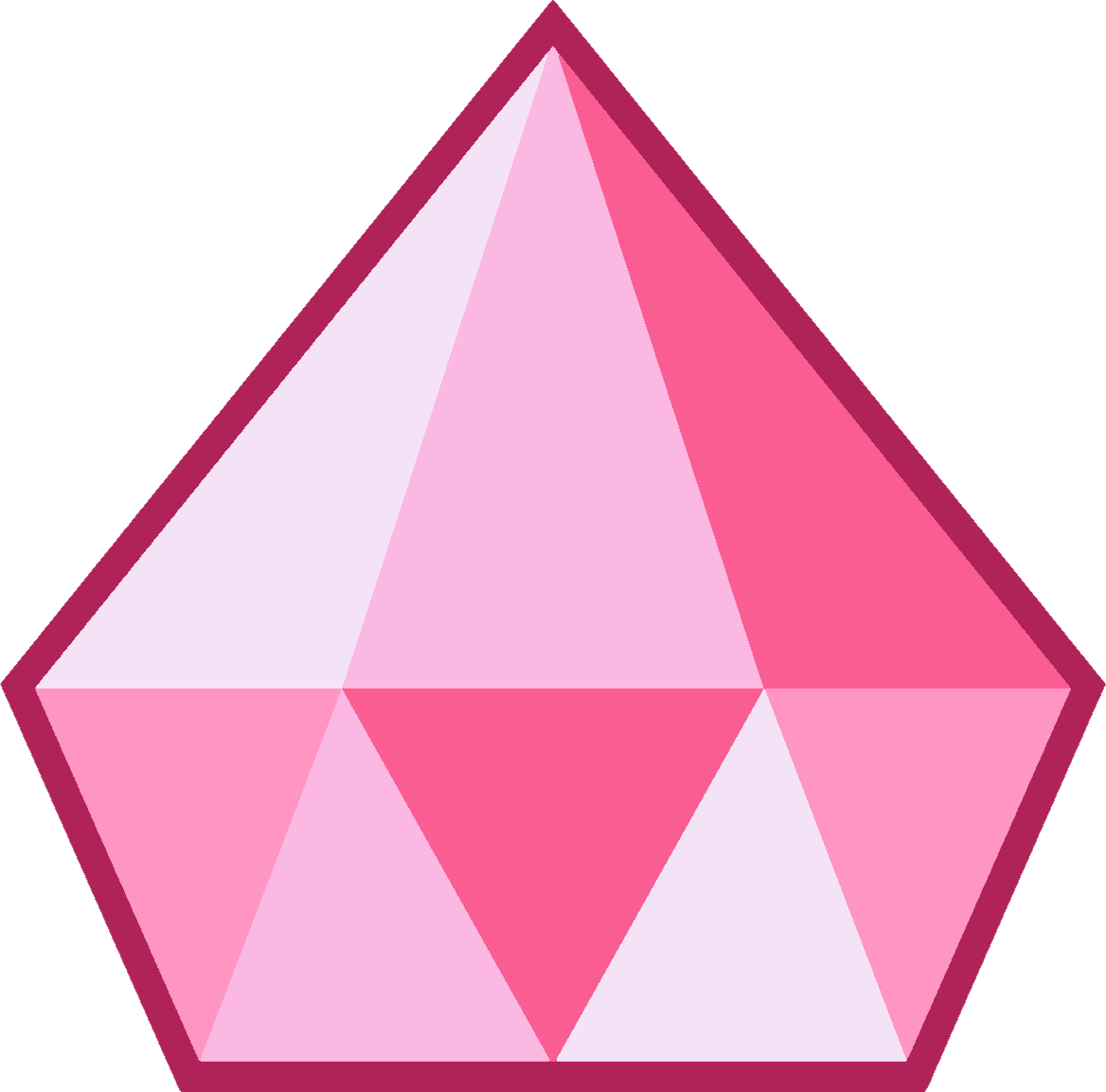 Pink Diamond's gemstone is located on her navel. It is in the shape of an