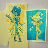 Yellow and Blue Pearl by Joe Johnston