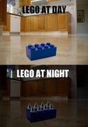 Lego At Day Lego at Night meme