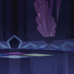 Widoczny dół muralu Różowego Diamentu