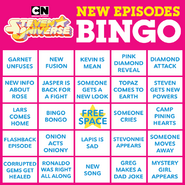 Cartoon Network SU Season 5 Bingo