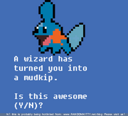 Wizard turned you mudkip
