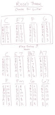 Rose's Theme Acoustic Chords and Tabs