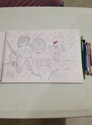 Fanon Drawing (Steven battles the Evil Carrots) by (Amadeo.lucero.9).format