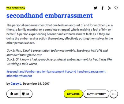 Secondhand embarrassment