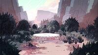 Bramble Rose's Garden Warp Pad Background