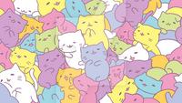 Kawaii nyan cats wallpaper by juanchobeauty-d8jhm3s