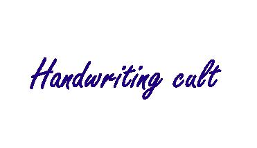 Handwriting cult logo made by Asriel