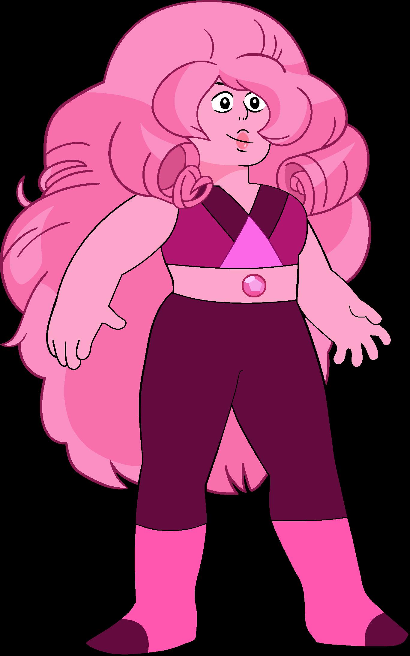 Rose Quartz Steven Universe Hair Template: Rose Quartz (Shy Rose)