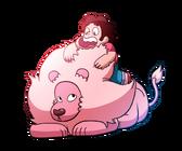 Steven universe steven and lion by nopplesaregreat-d87o8vt