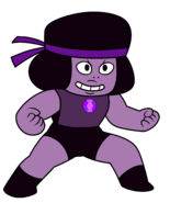Amethyst transformed into ruby