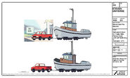 Yellowtail's Boat and Pickup Truck Model Sheet