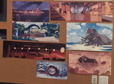 Backgrounds in Steven Universe (two are backgrounds we've seen never seen before)