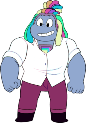Bismuth wearing white dress shirt (partially unbuttoned)
