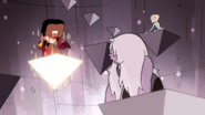 Serious Steven triangle glowing