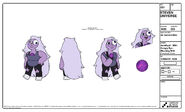 Amethyst Blushing With Googly Eye And Cracked Gem Model Sheet
