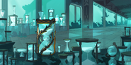 Underwater Temple Hourglass Background