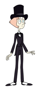 Pearl In Tuxedo With Hat