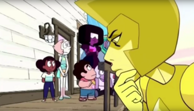 Aunt Yellow Diamond and Steven 002