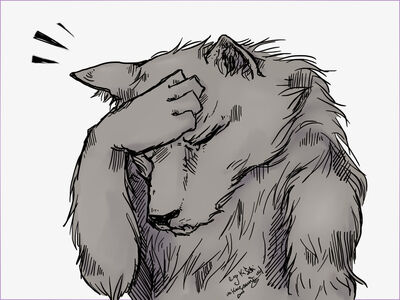 Wolf Facepalm