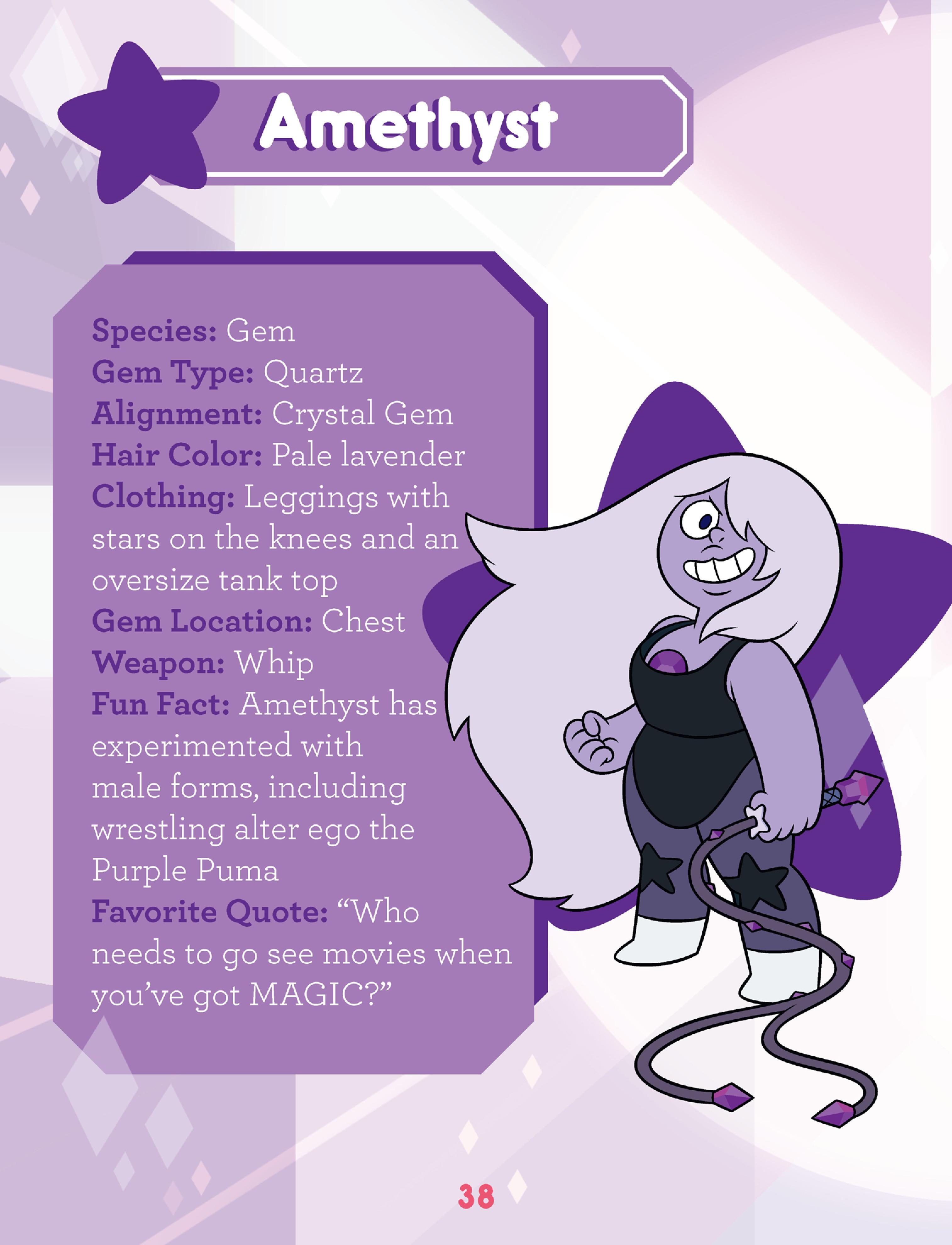 Amethyst S Entry In Guide To The Crystal Gems