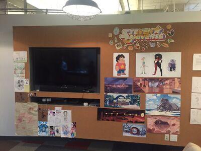 Steven Universe Editor's Wall