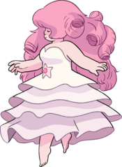 Rose Quartz Floating By Chara