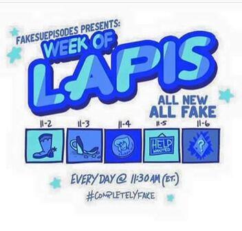 Week of lapis is fake btw