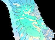 Silent blue statue