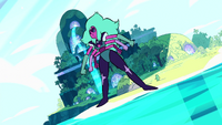 Alexandrite stands tall, about the height of the highest point on the island.