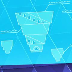 Schemat Podniebnej Wieży na ekranie w <a href=