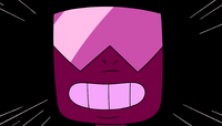 The camera zooms in on Garnet's smiling face.