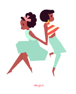 Kiki and Jenny Color Block